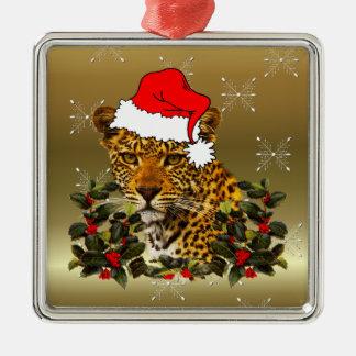 クリスマスの山猫 メタルオーナメント