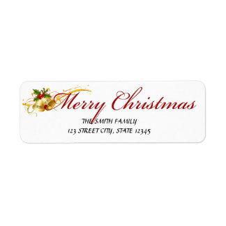 クリスマスの差出人住所ラベル ラベル