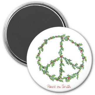 クリスマスの平和リースの磁石 マグネット