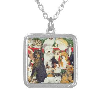 クリスマスの平和 シルバープレートネックレス
