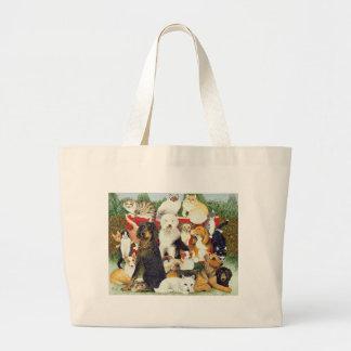 クリスマスの平和 ラージトートバッグ