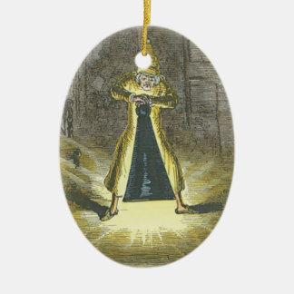 クリスマスの幽霊をストップ試みるScrooge セラミックオーナメント