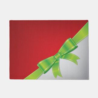 クリスマスの弓 ドアマット