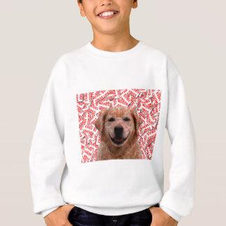 クリスマスの微笑のゴールデン・リトリーバー犬 スウェットシャツ