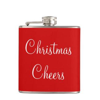 クリスマスの応援のシンプルな引用文の赤く白い習慣 フラスク