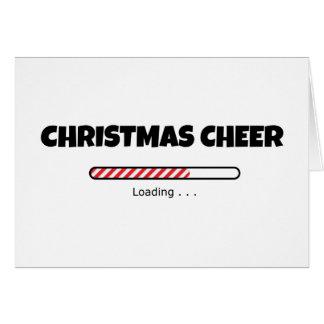 クリスマスの応援-進歩のバー-ローディング カード