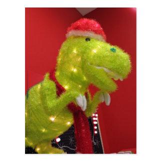 クリスマスの恐竜 はがき