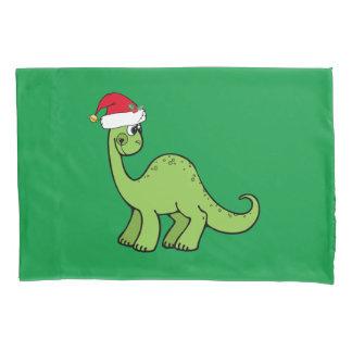 クリスマスの恐竜 枕カバー
