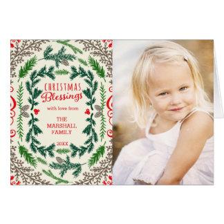 クリスマスの恵みの写真の休日の挨拶状 カード