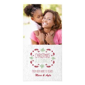 クリスマスの恵みの写真カード カード