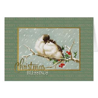 クリスマスの恵みのSnowBirdsのヴィンテージの再生 カード