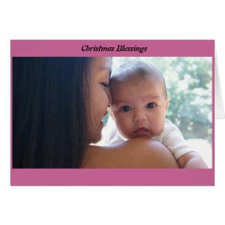 クリスマスの恵み グリーティングカード
