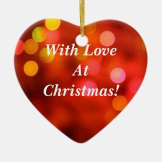 クリスマスの愛と! セラミックオーナメント