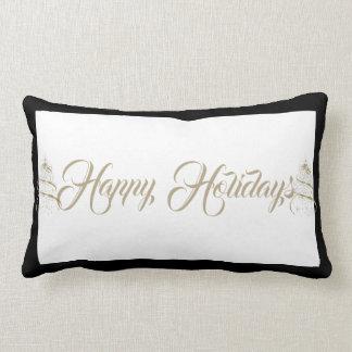 クリスマスの投球の枕幸せな休日 ランバークッション