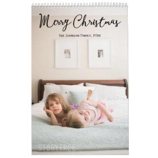 クリスマスの挨拶の名前入りなカレンダー カレンダー