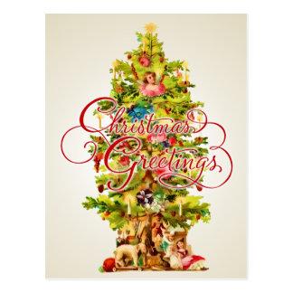 クリスマスの挨拶の郵便はがき ポストカード