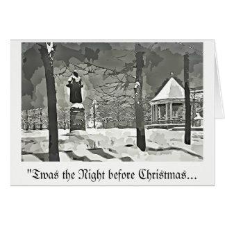 クリスマスの挨拶状のb&wのvntgeの前の夜 カード