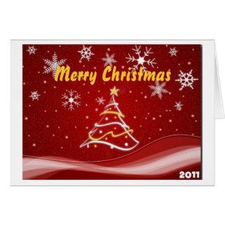クリスマスの挨拶状2011年 カード