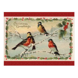クリスマスの挨拶状 ポストカード