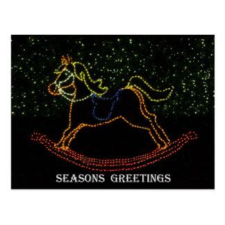 クリスマスの揺り木馬2016年 ポストカード