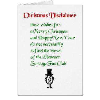 クリスマスの放棄-おもしろいなクリスマスの詩 グリーティングカード