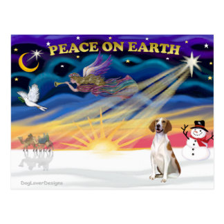 クリスマスの日の出-アメリカFoxhound 1 ポストカード