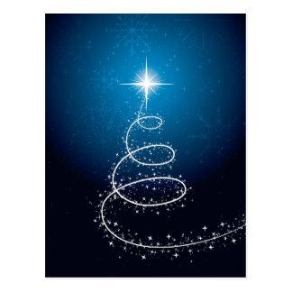 クリスマスの星および雪片 ポストカード