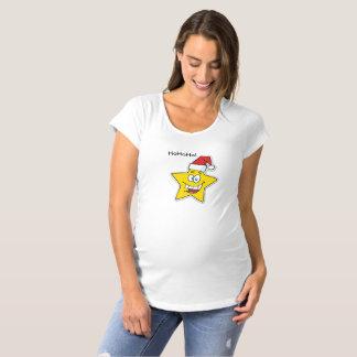 クリスマスの星のマタニティシャツ マタニティTシャツ