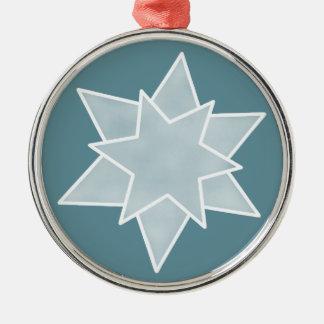クリスマスの星の優れたオーナメント、落ち着いた青 メタルオーナメント