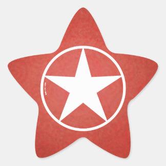 クリスマスの星の具象 星シール