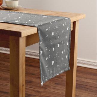 クリスマスの星及び雪パターン-クリスマスのギフト ショートテーブルランナー