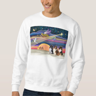 クリスマスの星-シェットランド・シープドッグ(3) スウェットシャツ