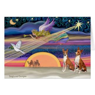 クリスマスの星- Basenjis (2) カード