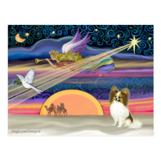 クリスマスの星- Papillon (子鹿#5) ポストカード