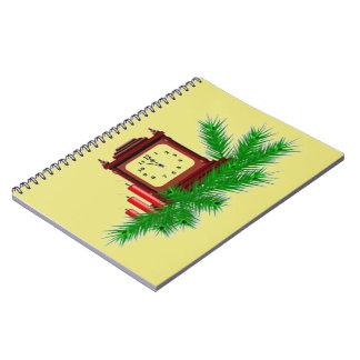 クリスマスの時計 ノートブック