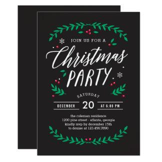 クリスマスの時間編集可能色のパーティの招待状 12.7 X 17.8 インビテーションカード