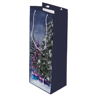 クリスマスの景色のワインのギフトバッグ ワインギフトバッグ