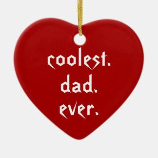 クリスマスの最もクールなパパの赤い父 セラミックオーナメント