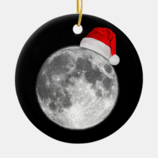 クリスマスの月の陶磁器のオーナメント セラミックオーナメント