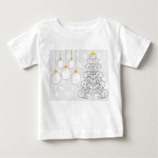 クリスマスの木およびつまらないもの ベビーTシャツ