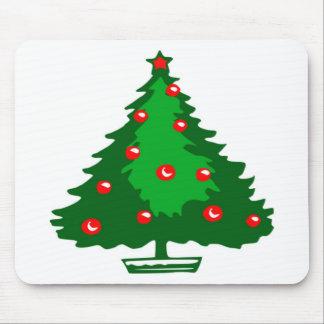 クリスマスの木のシンプル マウスパッド