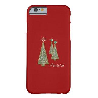 クリスマスの木平和か赤 BARELY THERE iPhone 6 ケース