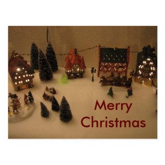クリスマスの村 ポストカード