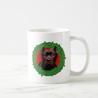 クリスマスの杖のCorso犬 コーヒーマグカップ