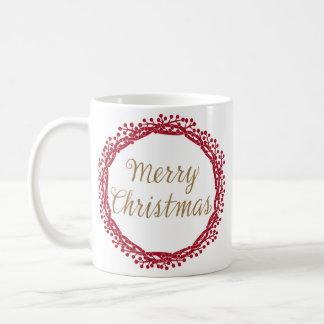 クリスマスの果実のリースのマグ コーヒーマグカップ