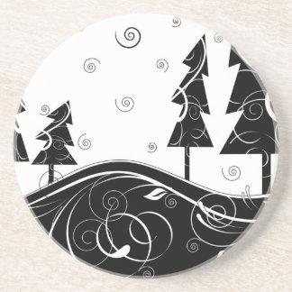 クリスマスの森林 コースター