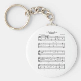 クリスマスの楽譜 キーホルダー