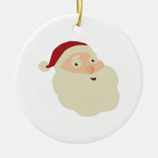クリスマスの概念: サンタのメリークリスマスの願いwi セラミックオーナメント