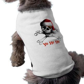 クリスマスの海賊小犬のTシャツ ペット服
