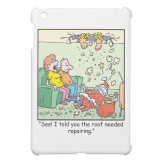 クリスマスの漫画のサンタの低下 iPad MINIケース